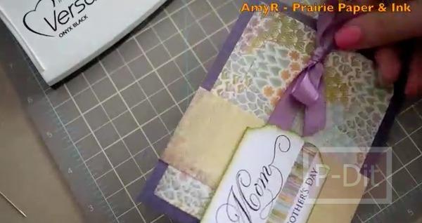 รูป 7 ไอเดียตกแต่ง การ์ดวันแม่ สีม่วง สวยๆ