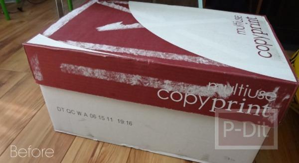รูป 3 ประดิษฐ์กล่องเก็บของ จากกล่องเก่า