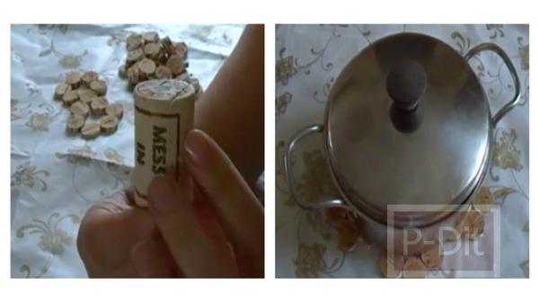 รูป 1 ประดิษฐ์ที่วางหม้อ จากจุกไวน์