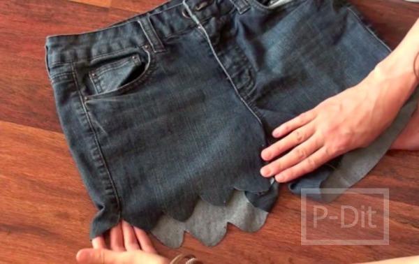 รูป 7 ตัดขากางเกงยีนส์ขายาว ให้เป็นขาสั้น