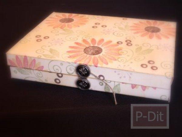 รูป 3 ทำกล่องของขวัญ สำหรับใส่หนังสือ
