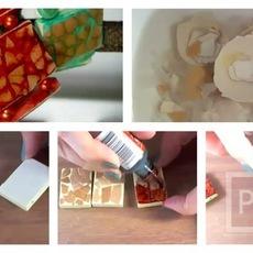 ทำสร้อยข้อมือ จากเปลือกไข่