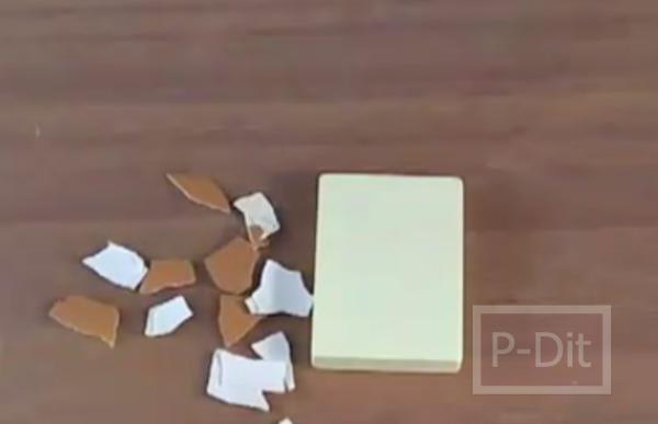 รูป 5 ทำสร้อยข้อมือ จากเปลือกไข่