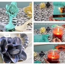 ประดิษฐ์ดอกไม้พลาสติก จากช้อนพลาสติกสีสวย