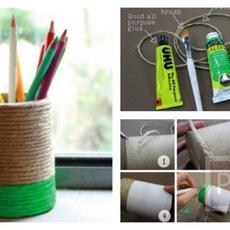 ทำที่ใส่ดินสอ จากกระป๋อง
