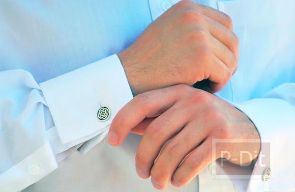 รูป 5 ทำกระดุมติดแขนเสื้อ สำหรับเสื้อเชิ๊ตแขนยาว