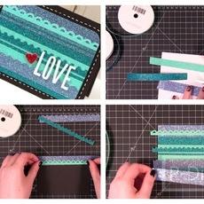 ทำการ์ดส่งรักสวยๆ สีเขียว-ฟ้า