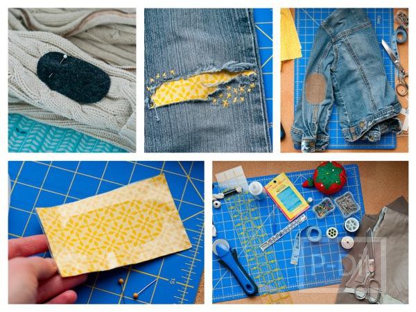 รูป 1 ปะ ซ่อม เสื้อ กางเกงที่ขาด