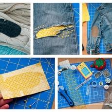 ปะ ซ่อม เสื้อ กางเกงที่ขาด