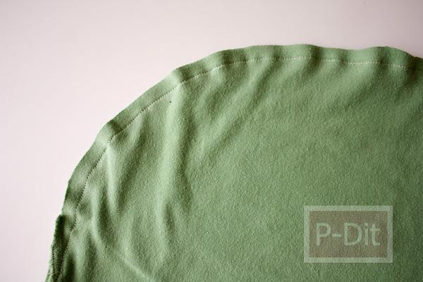 รูป 2 ทำถุงผ้า ใส่ผักผลไม้ จากเสื้อยืดตัวเก่า