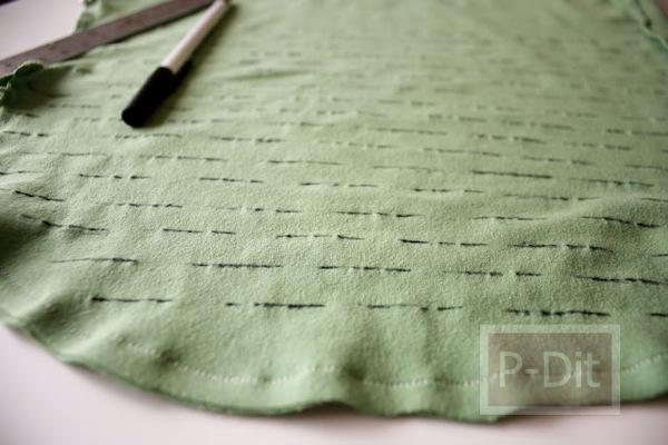 รูป 4 ทำถุงผ้า ใส่ผักผลไม้ จากเสื้อยืดตัวเก่า