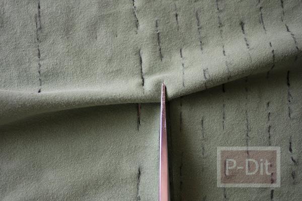รูป 5 ทำถุงผ้า ใส่ผักผลไม้ จากเสื้อยืดตัวเก่า