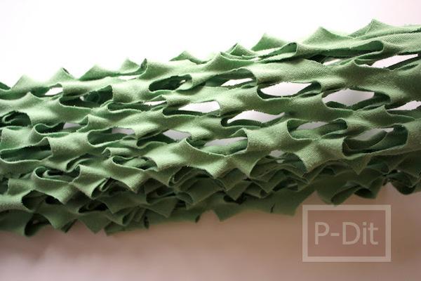 รูป 6 ทำถุงผ้า ใส่ผักผลไม้ จากเสื้อยืดตัวเก่า
