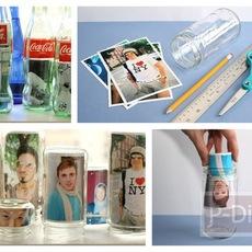 ทำที่ใส่รูป จากขวดแก้ว