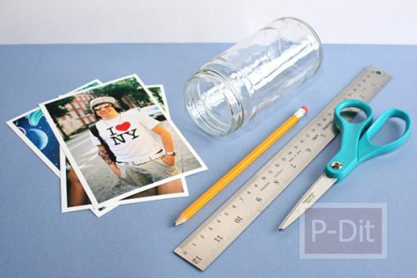 รูป 3 ทำที่ใส่รูป จากขวดแก้ว