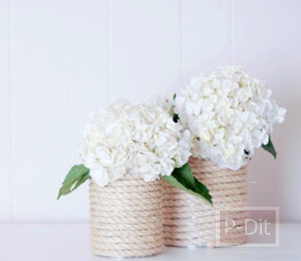รูป 2 ทำแจกันดอกไม้ จากกระป๋อง