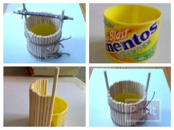 รูป 1 ประดิษฐ์ที่ใส่ดินสอ จากขวดเมนทอส
