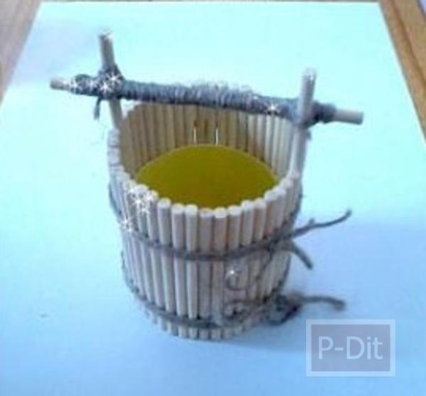 รูป 2 ประดิษฐ์ที่ใส่ดินสอ จากขวดเมนทอส