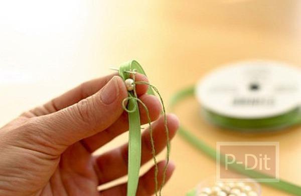 รูป 6 ไอเดียประดิษฐ์ สร้อยข้อมือโบว์สีสวย
