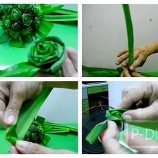 วิธีประดิษฐ์ดอกกุหลาบ จากใบเตย