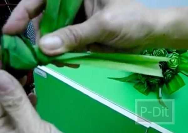 รูป 5 วิธีประดิษฐ์ดอกกุหลาบ จากใบเตย
