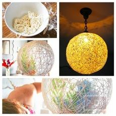 วิธีทำโคมไฟประดับบ้าน จากเชือก