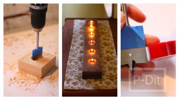 รูป 1 ทำเทียนไขประดับบ้าน