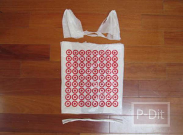 รูป 3 ถังขยะ ทำจากถุงพลาสติก
