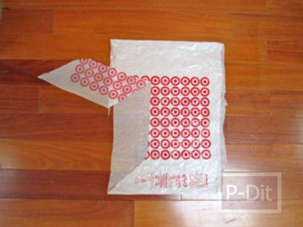 รูป 4 ถังขยะ ทำจากถุงพลาสติก