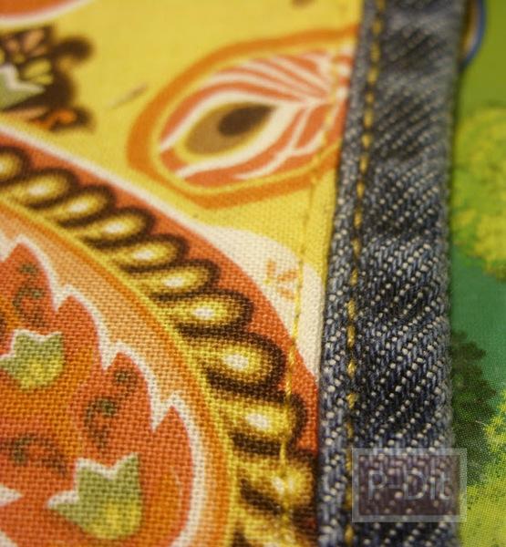 รูป 4 ทำกระเป๋าถือ จากกระโปรงเอี้ยมชุดเก่า