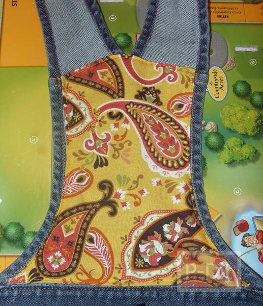 รูป 5 ทำกระเป๋าถือ จากกระโปรงเอี้ยมชุดเก่า