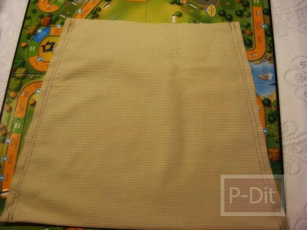 รูป 6 ทำกระเป๋าถือ จากกระโปรงเอี้ยมชุดเก่า