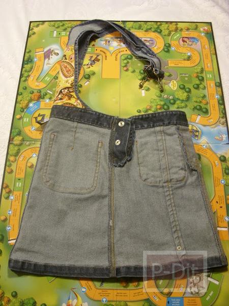 รูป 7 ทำกระเป๋าถือ จากกระโปรงเอี้ยมชุดเก่า