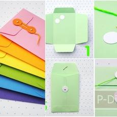 ประดิษฐ์ซองใส่ของน่ารักๆ จากกระดาษสี
