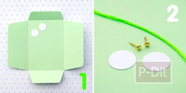 รูป 2 ประดิษฐ์ซองใส่ของน่ารักๆ จากกระดาษสี
