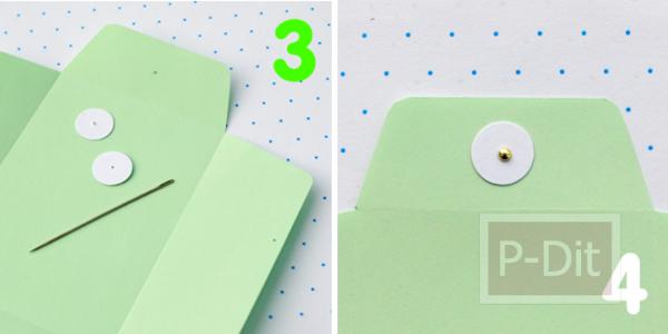 รูป 3 ประดิษฐ์ซองใส่ของน่ารักๆ จากกระดาษสี