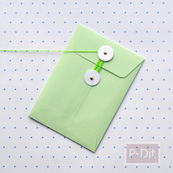 รูป 5 ประดิษฐ์ซองใส่ของน่ารักๆ จากกระดาษสี