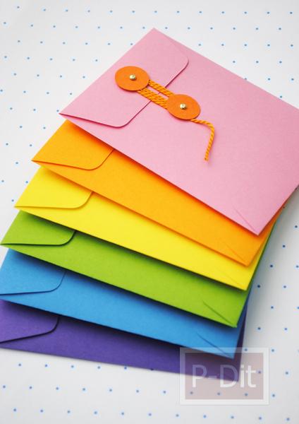 รูป 7 ประดิษฐ์ซองใส่ของน่ารักๆ จากกระดาษสี