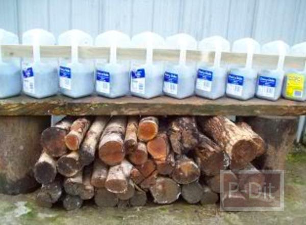รูป 5 ทำกระถางต้นไม้ จากขวดนม