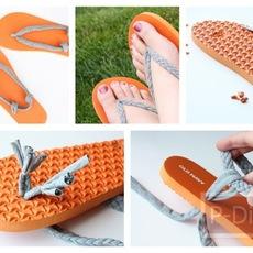 ตกแต่งรองเท้าแตะ ให้สวยขึ้น