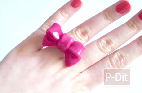 รูป 2 ทำแหวนน่ารักๆ จากดินน้ำมัน