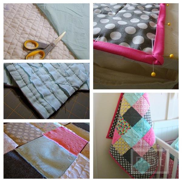 รูป 1 เย็บผ้าห่มผืนใหม่ ให้เด็ก จากเศษผ้า