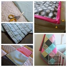 เย็บผ้าห่มผืนใหม่ ให้เด็ก จากเศษผ้า