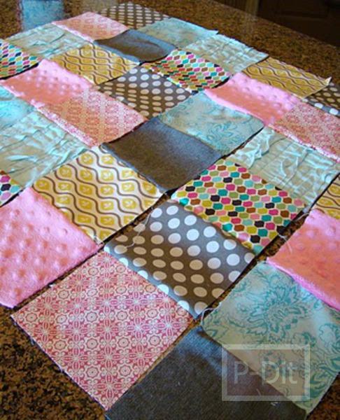 รูป 6 เย็บผ้าห่มผืนใหม่ ให้เด็ก จากเศษผ้า