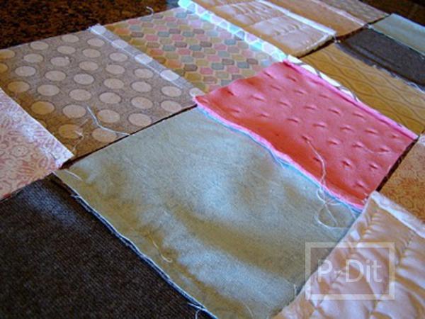 รูป 7 เย็บผ้าห่มผืนใหม่ ให้เด็ก จากเศษผ้า