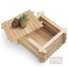 ทำกล่องเก็บของจากไม้ไอติม