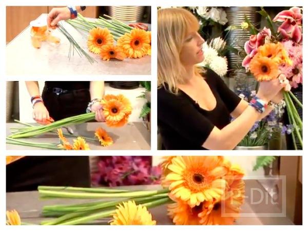 รูป 1 ไอเดียจัดดอกไม้สวยๆ ช่อดอไม้สีส้ม