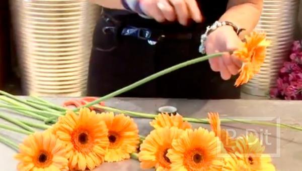 รูป 3 ไอเดียจัดดอกไม้สวยๆ ช่อดอไม้สีส้ม