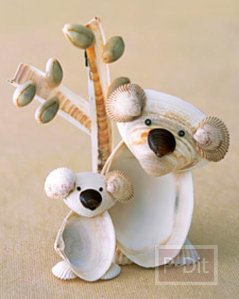 รูป 3 ประดิษฐ์ตุ๊กตาตั้งโต๊ะ จากเปลือกหอย