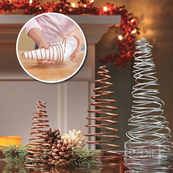 ต้นคริสต์มาส ทำจากลวด